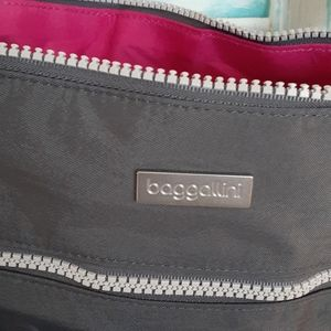NWOT Gray and Pink Baggallini Crossbody Bags
